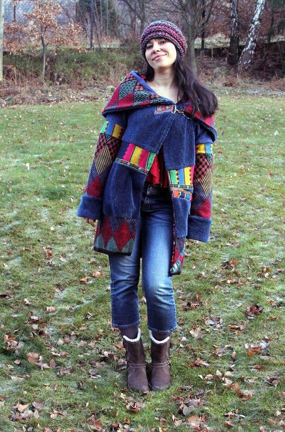 Ethno fusion folk fantasy jacket  sweater coat by jamfashion, $114.00