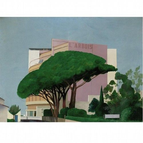 David Hockney. Hotel L'Arbois, Sainte-Maxime, 1968.