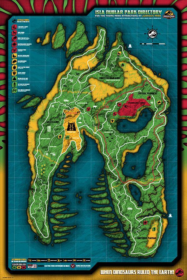 Jurassic World Map Pdf. Dino Directory  Jurassic Park Anthony Petrie 49 best World Party images on Pinterest Dinosaur