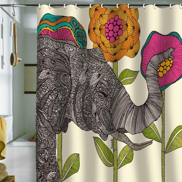 Elephant!! DENY Designs Valentina Ramos Aaron Shower Curtain