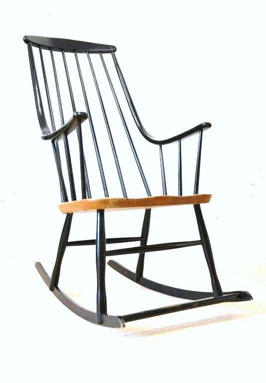 TAPIOVAARA - Lena Larsson vintage rocking chair - 1950/60