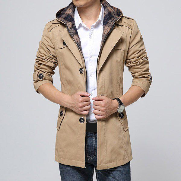 Gentle Hoody Hat Long Sleeve Slim Coat Jacket Outerwear/79441 via AmaSell. Click on the image to see more!