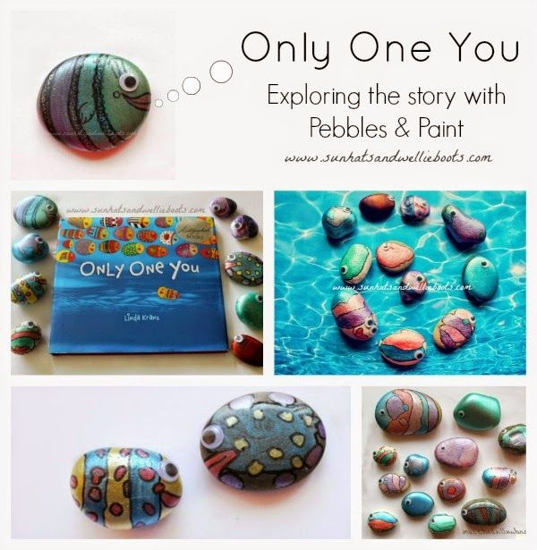 "Sun Hats & Wellie Boots: ""Only One You"" - Story Book & Pebble Fish Craft"