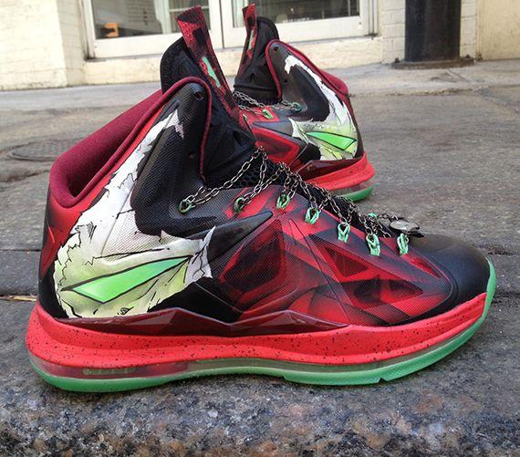 "Nike LeBron X ""Spawn"" Customs by Mache"