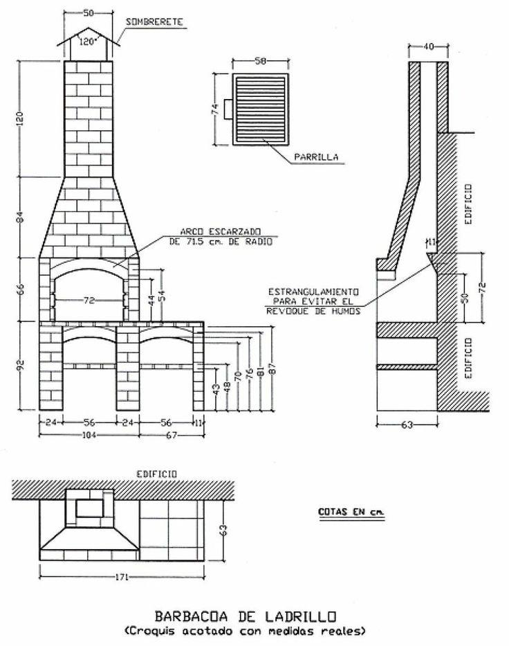 Las 25 mejores ideas sobre asadores de ladrillos en for Ladrillos decorativos para exteriores