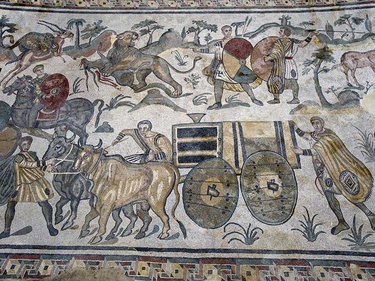 Piazza Armerina - mosaico ambulacro grande caccia