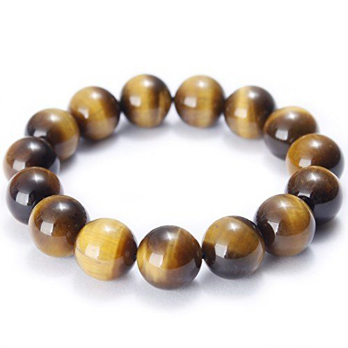 MOON FAIRY Tiger's Eye Beaded Bracelet : Tiger Roars – Stretchable Beads Handmade with 14mm Natural Tiger Eye Gemstones  http://stylexotic.com/moon-fairy-tigers-eye-beaded-bracelet-tiger-roars-stretchable-beads-handmade-with-14mm-natural-tiger-eye-gemstones/