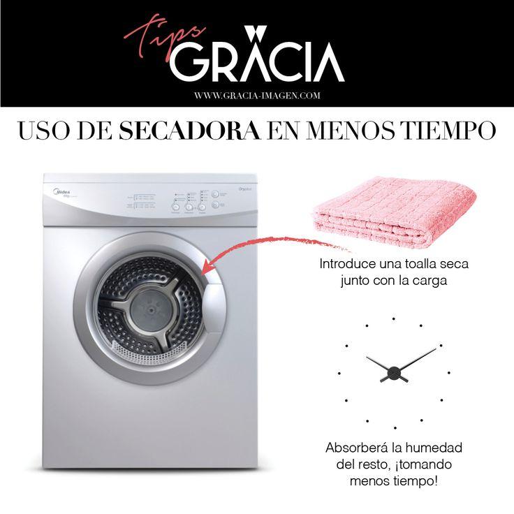 Usa tu secadora en modo económico. Menos tiempo, menos gasto!