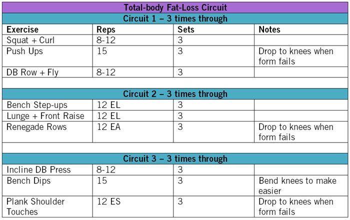 Grundlegendes Trainingsprogramm zur Gewichtsreduktion