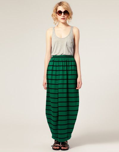 Horizontal stripes work well for a taller figure with longer legs.