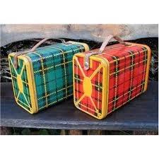 vintage plaid lunch box