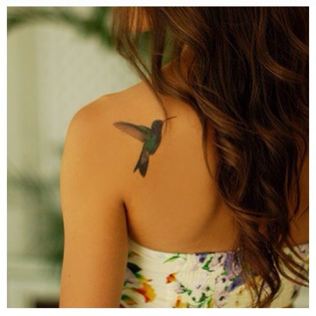 Hummingbird tattoo in memory of my Granny!