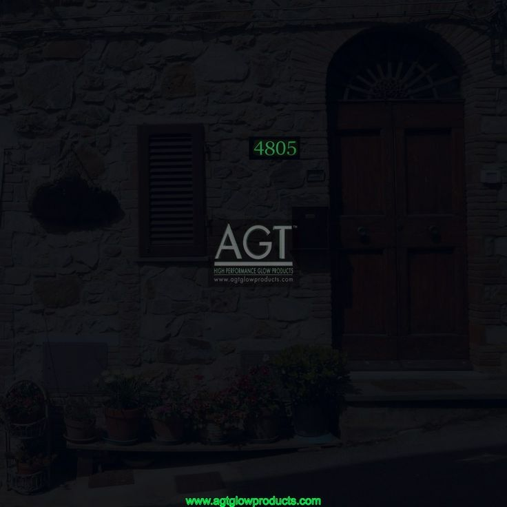 EMERALD AGT Glowing house numbers - NIGHT_4805