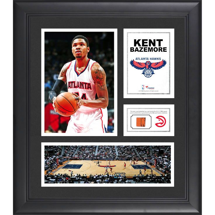 "Kent Bazemore Atlanta Hawks Fanatics Authentic Framed 15"" x 17"" Collage with Team-Used Ball - $63.99"