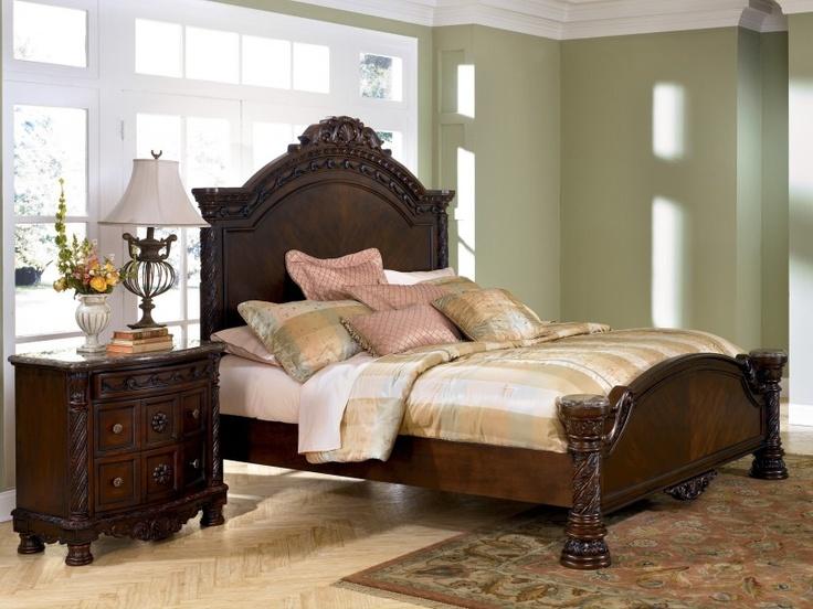 Cherry Bedroom Furniture North Shore Bedroom Collection Dark Wood