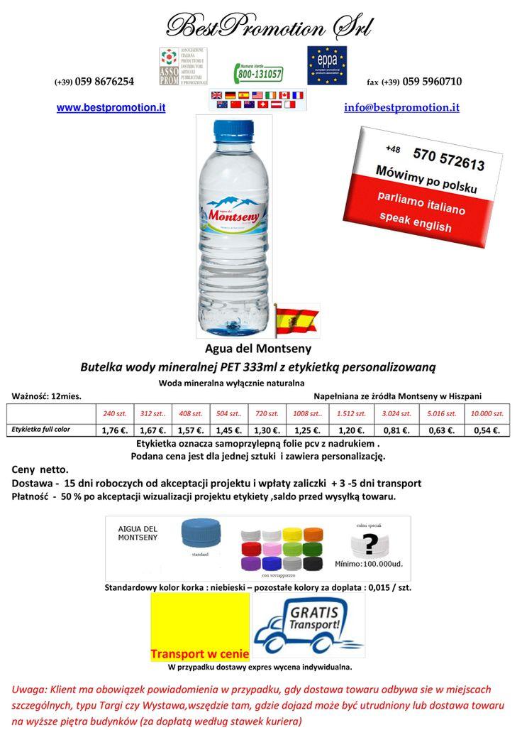 Agua del Montseny 333 ml | Woda Reklamowa