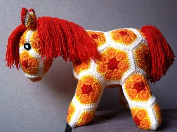 Sunshine  - Crochet African Flower Pony