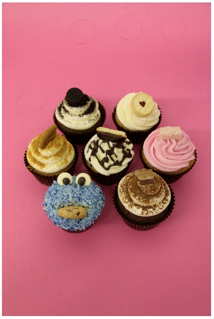 Biscuit Cupcakes: Yummy Cupcakes, Biscuits Cupcakes, Cupcakes Rosa-Choqu