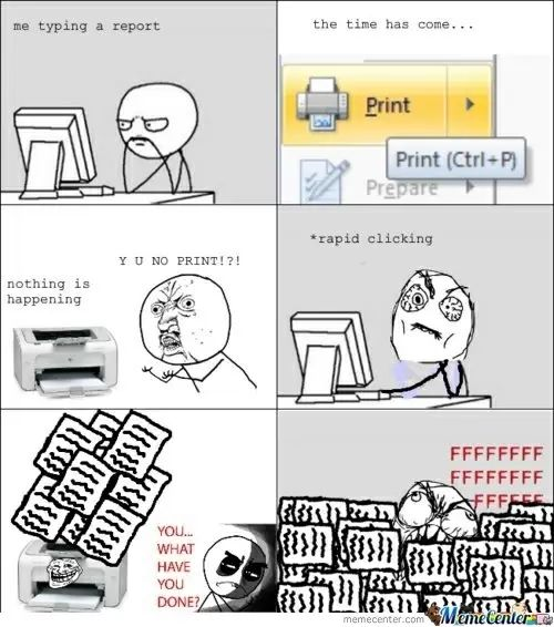 c15635904c79d3d50e794f5f98d241af rage comics funny comics 29 best printing memes images on pinterest funny images, funny