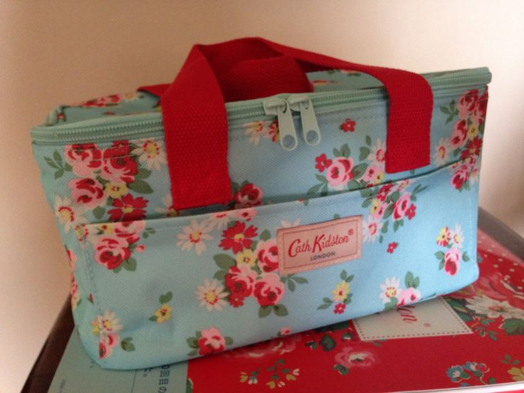Cath Kidston lunch bag in turquoise & red floral prints