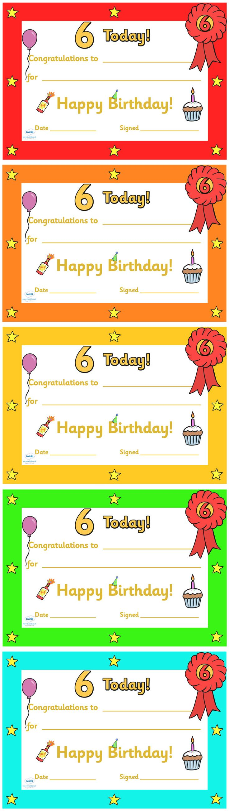 Best 25+ Birthday certificate ideas on Pinterest | Birthday ...