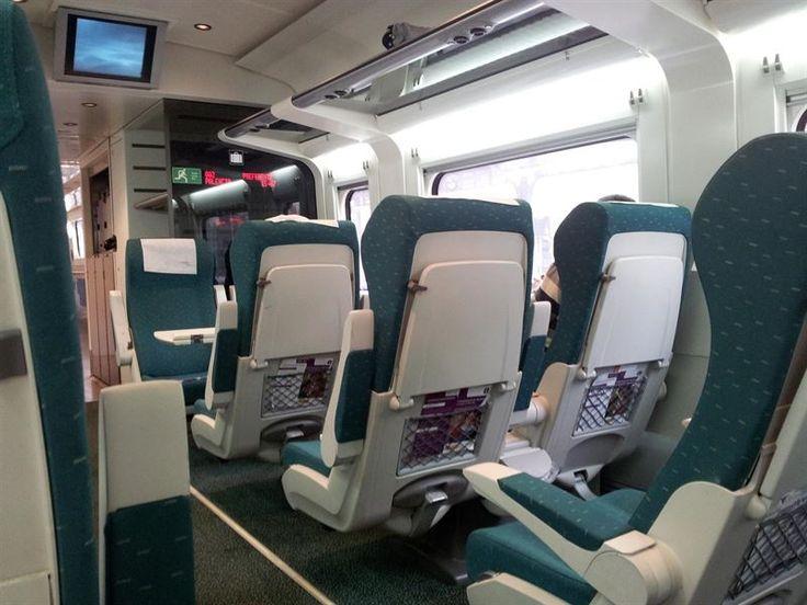Interior de un tren alvia  de Renfe.