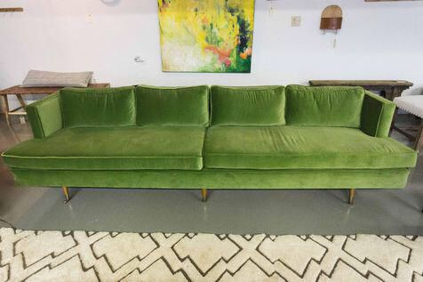 Fantastic Vintage Davenport Green Velvet Sofa Sofas In 2019 Deep Pabps2019 Chair Design Images Pabps2019Com