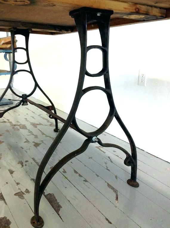 Catchy Iron Table Legs Iron Desk Legs Full Image For Cast Iron