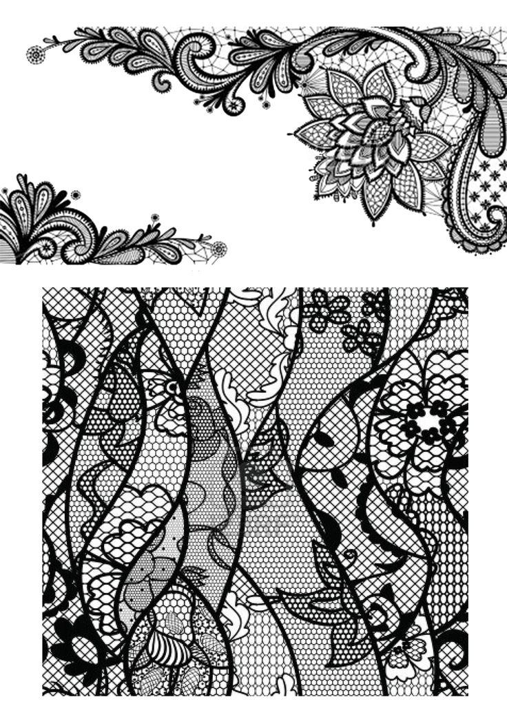 Black Lace Pattern Stencils Pinterest Patterns
