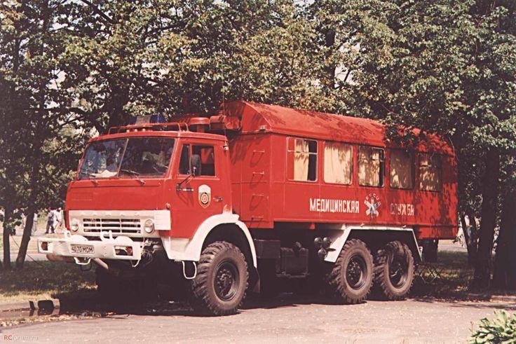 01 КАМАЗ-43101 (ГДЗХС) в пожарной раскраске ...