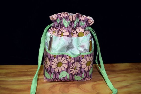 Floral/Flowers Oragami Lavender Pinks Mint by TheQuiltedPtarmigan