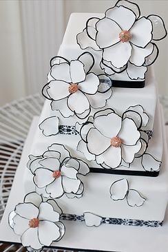 www.cakecoachonline.com - sharing...Wedding Cakes | Black + White