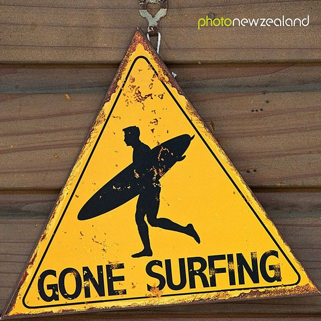 "Image of the Day - ‬ Sign, ""Gone Surfing"" by Markus Brunner."