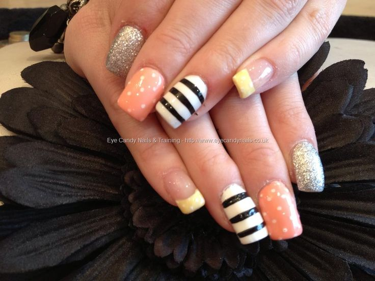 Acrylic nails with nail art