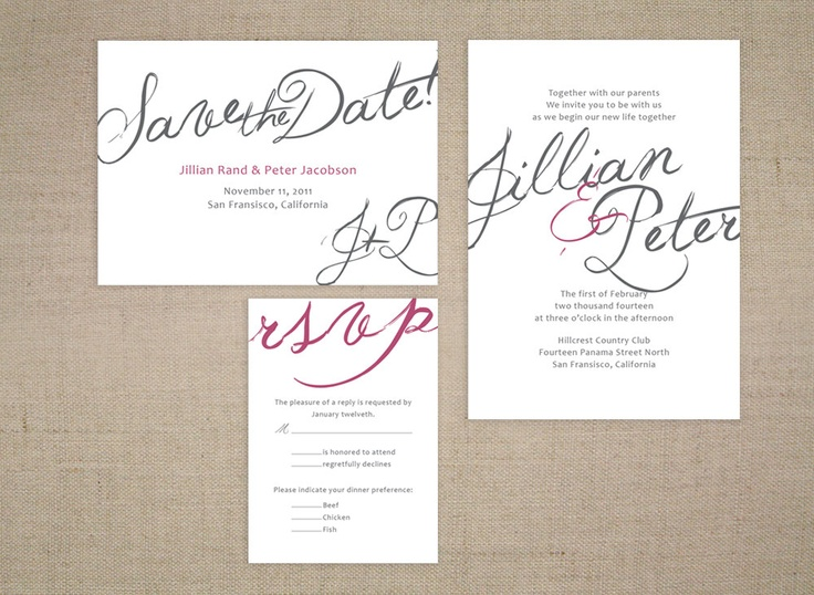 printable calligraphy script wedding invitation and response card via etsy de