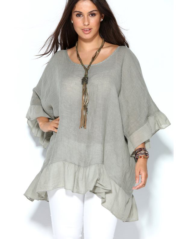 Esta actual blusa es ideal para la nueva temporada por su tejido fresco y diseño holgado. Blusa de corte cuadrado que aligera visualmente tu look con notas - Venca - 015625