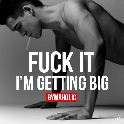 gymaaholic:  Get BIG -> http://www.gymaholic.co/workouts/men-workout-routine