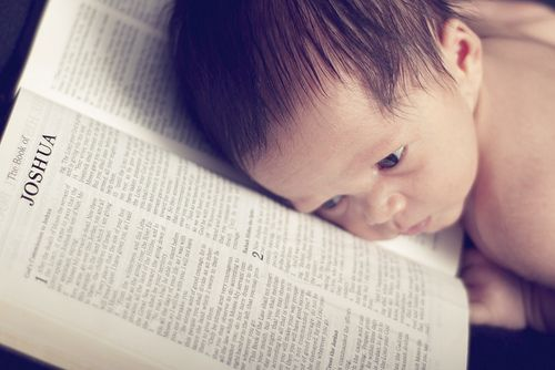 This is a great photo if your child is named after a book of the bible!
