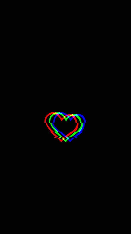 Glitched Heart Glitched Heart Planodefundo Glitch Wallpaper Trippy Wallpaper Black Phone Wallpaper