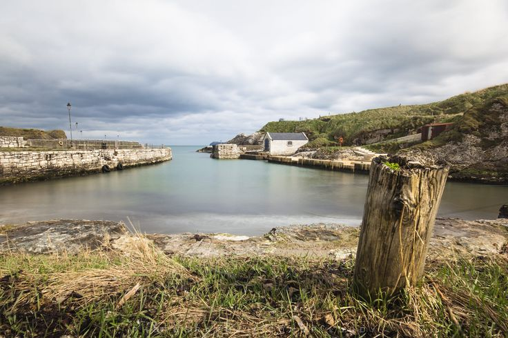 Ballintoy Harbour in Northern Ireland. This little harbour was used in the Game of Thrones TV series. It has a little cafe too, and it's worth a visit.