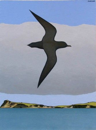 Actic Skua - Whangaparaoa by Don Binney 2008