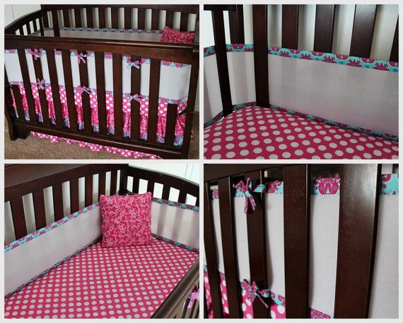 Breathable Mesh Crib Bumper by PLJdesign on Etsy, $95.00