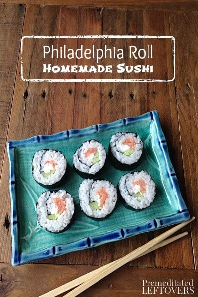 Philadelphia Sushi Roll Recipe - Here is a recipe and tutorial for Philadelphia sushi rolls that are easy to prepare at home.