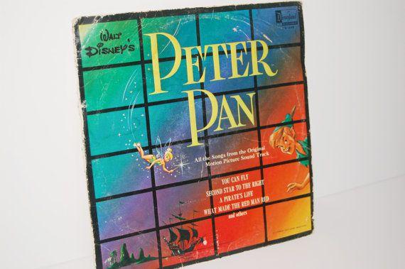 Walt Disney's Peter Pan Soundtrack - Vintage Vinyl LP 1963