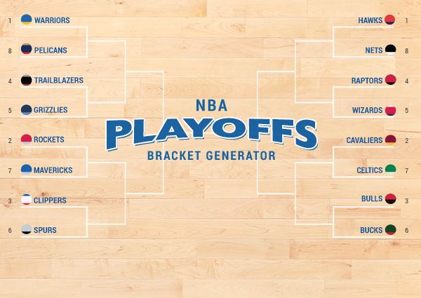 Create your own NBA Bracket