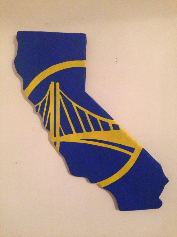 California shape with Golden State Warriors logo by KatrelsKrafts