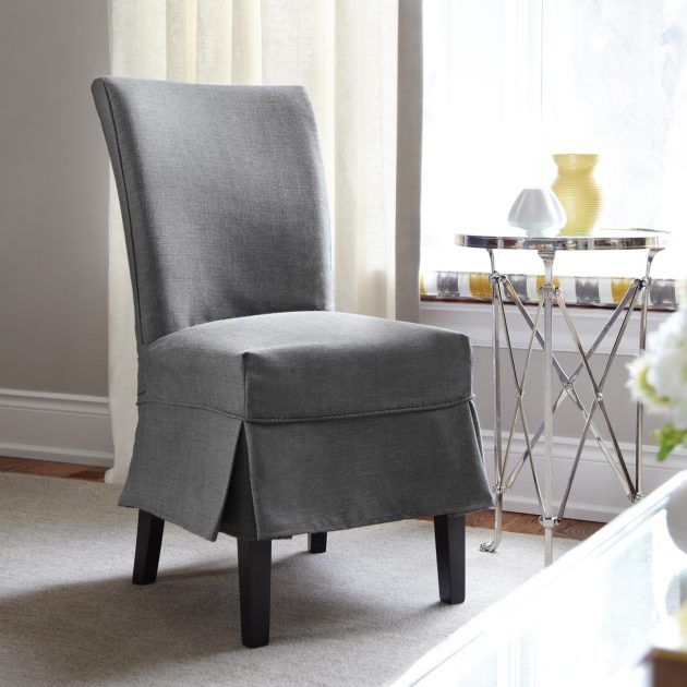 18 Lovely Chair Cover Designs To Refresh The Look Of Every Dining Room Dining Room Chair Covers Slipcovers For Chairs Slip Covered Dining Chairs
