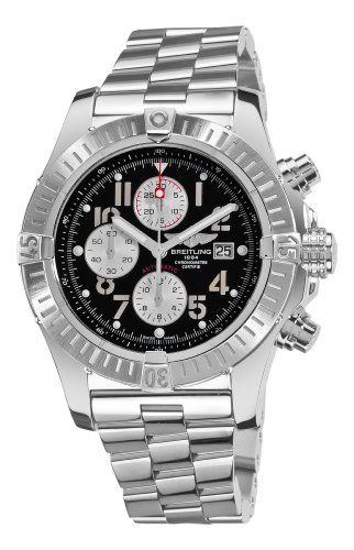 Breitling Mens A1337011/B973 Super Avenger New Black Chronograph Dial Watch: Watches: $5,199.00