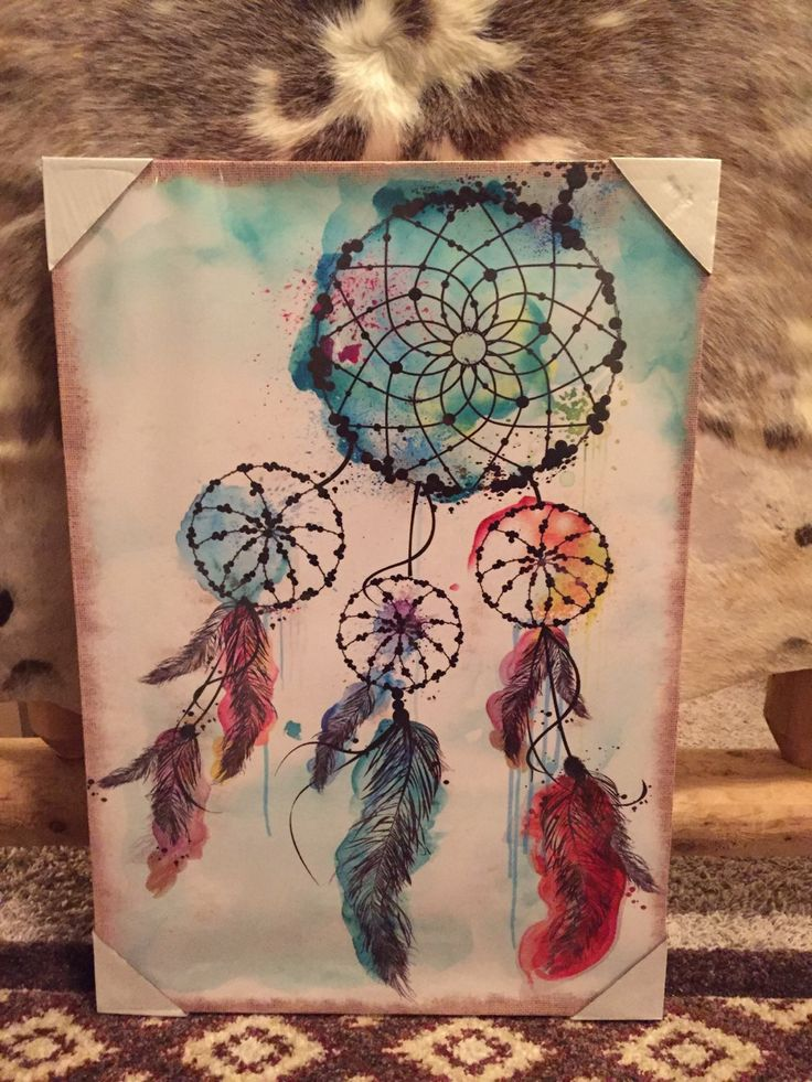 Dream catcher canvas painting