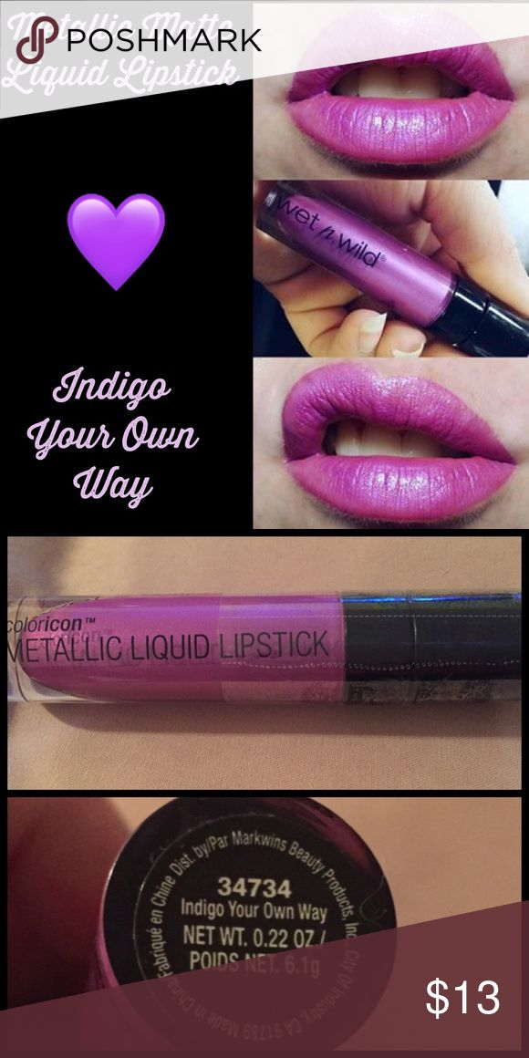 Wet n Wild Metallic Matte Liquid Lipstick Wet n wild Color Icon Metallic Matte Liquid Lipstick  Indigo Your Own Way  Brand new n Sealed Not used or tested What u see is what u get ➕10% off 2 or more➕ ❤Please check out my closet❤ ⛔All prices have Been reduced⛔ ✔Buy with confidence ⭐⭐⭐⭐⭐ Top Rated Seller ⚡next day ship Wet n Wild  Makeup Lip Balm & Gloss